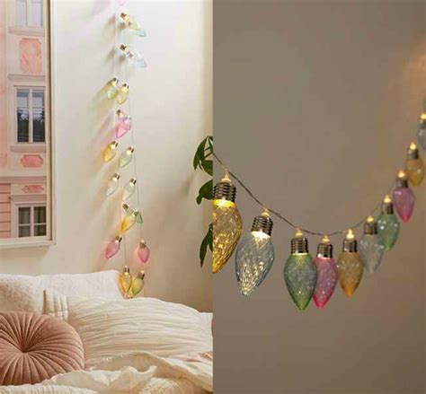 Brighten Your Bedroom With These Beautiful Bulbs Pastel String Lights