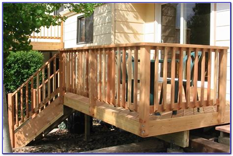 Design Deck Railings Ideas Wood Deck Railing Designs Diy Decks Home Decorating