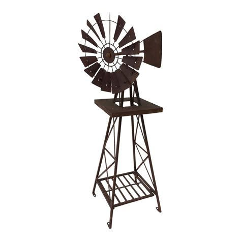 large rustic metal decorative outdoor garden windmill
