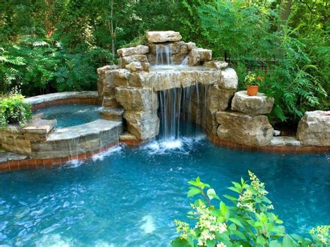 backyard pools with waterfalls best 25 grotto pool ideas on pinterest houses with