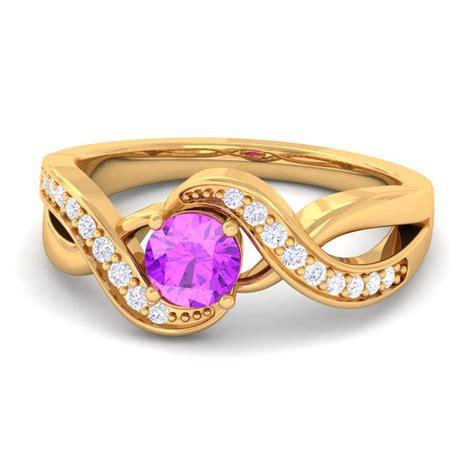 purple amethyst gh si diamonds gem engagement ring