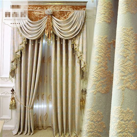 Simple Modern Curtains Inspiration Curtains Modern Simple Chenille European Luxury Jacquard Cloth Curtain E584 Ebay