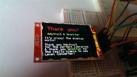 tutorial arduino spi qvga display 2 2 tft spi 240 215 320 playground2014