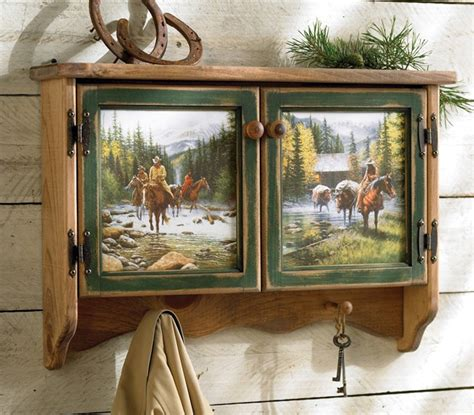 cowboy decorations for home rustic cowboy wall shelf reclaimed furniture design ideas