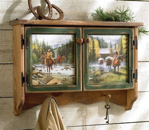rustic cowboy wall shelf reclaimed furniture design ideas