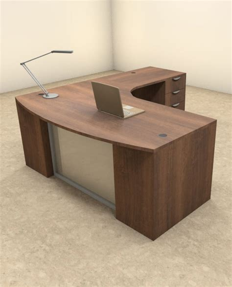 3pc L Shaped Modern Contemporary Executive Office Desk Set L Shaped Modern Desk