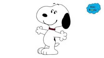 draw snoopy peanuts movie step