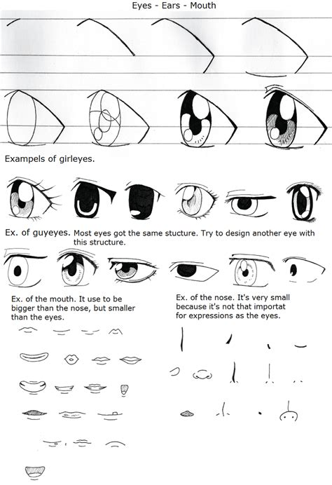 anime eyes nose drawing cartoon eyes nose and mouth drawing sketch picture