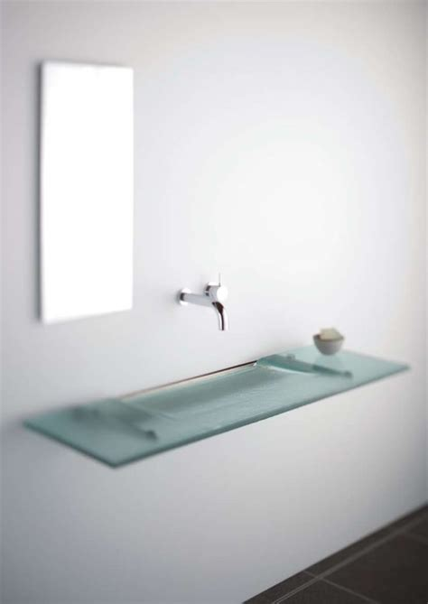 slimline sinks bathrooms glass sink archives digsdigs