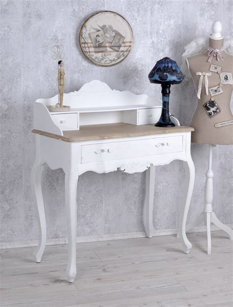 schreibtisch shabby chic console table shabby chic desk wall table white