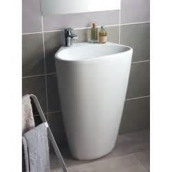 lavabo colonne en r 233 sine marbre blanc stori leroy merlin