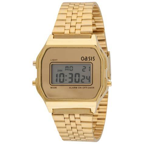 Oasis Women's Retro Gold Digital Watch Clothing   TheHut.com