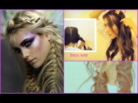 tutorial makeup natural ke kus fishtail braid pigtails dutch french braided updo on