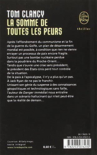 libro the sum of our libro la somme de toutes les peurs the sum of all fears di tom clancy