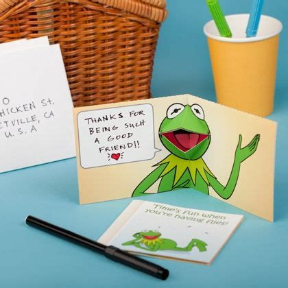 Frog Pop Up Card Template by Kermit The Frog Pop Up Card Pop Up Cards