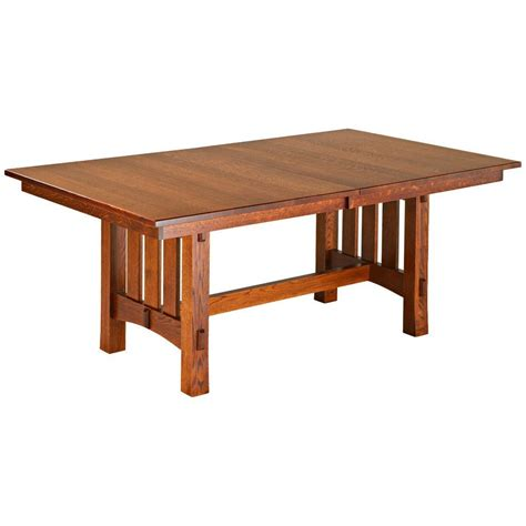 amish tables aspen trestle extension table amish tables