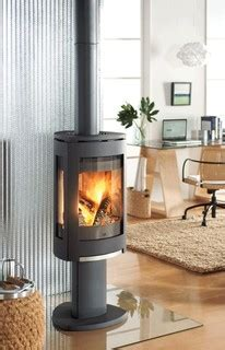 jotul  concept wood stove contemporary living room