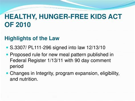 Section 11 Childrens Act by Ppt Scotts Valley Unified School District Food Services