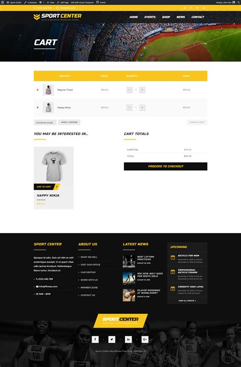themes for education conferences sport center multipurpose events education wordpress