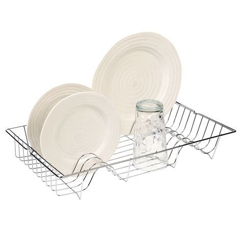 Kitchen Sink Plate Drainer Metal Chrome Wire Dish Rack Kitchen Sink Drainer Washing Up Draining Holder Tray Ebay
