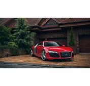 Audi R8 Red Car House Garage Wallpaper  1920x1080 Full