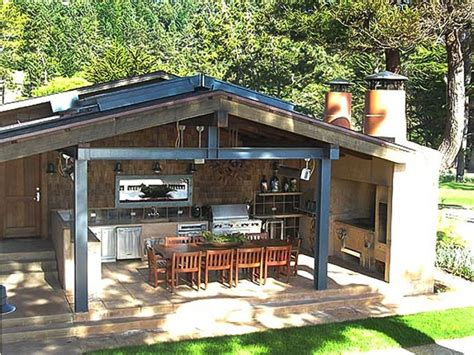 prefab outdoor kitchen and fireplace decor references