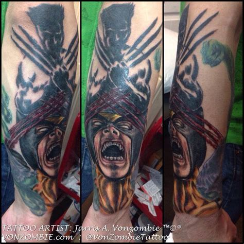 3d tattoo wolverine jarris a vonzombie certified artist