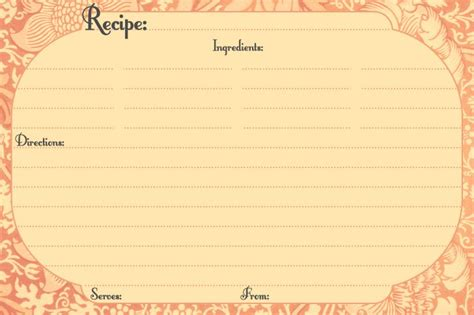vintage recipe card psd template banana bread recipe card template word page blank