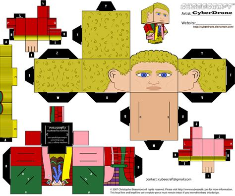 Custom Papercraft - cubee the 6th doctor by cyberdrone on deviantart