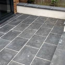 Slate Patio Slate Patio Tiles Treated For Grout And Sealed In