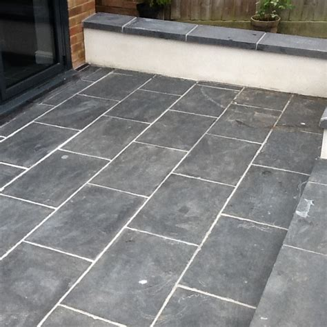 How To Regrout A Patio by Slate Patio Tiles Treated For Grout And Sealed In