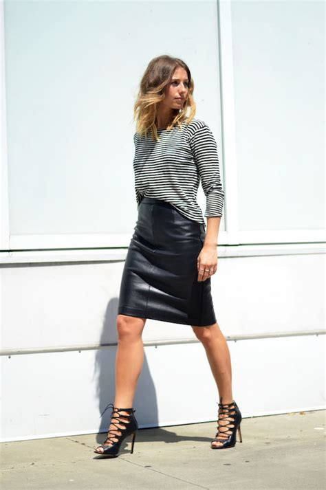 what tops and shoes to wear with knee length skirts