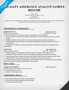 Quality Analyst Sle Resume by 1000 Images About 101 On Resume Exles Resume And Cover Letter Exle