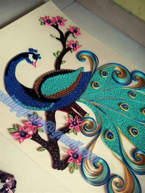 How To Make Paper Quilling Peacock - 5832 best images about twirling paper on paper