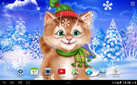 winter cat  wallpaper android apps  google play