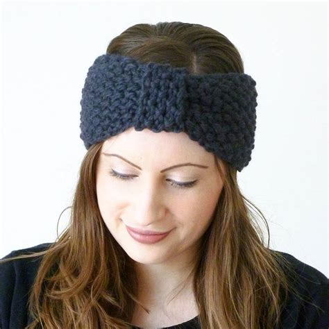 Knitted Turban Knot Headband By Miss Knit Nat