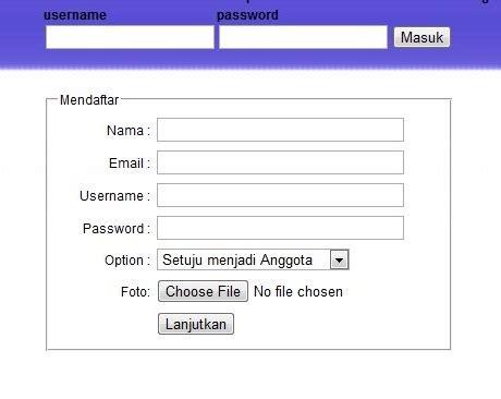 membuat database upload foto ketikspasi pembuatan form pendaftaran dilengkapi upload