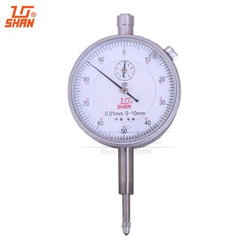 New Indicator 0 10001mm With Lug Back Measurement Micro shan indicator 0 10mm 0 01mm aluminum