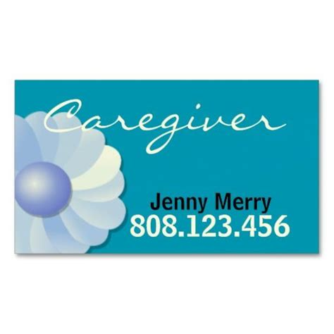 Assistant Business Cards Templates by Blue Caregiver Business Card Template Caregiver Card