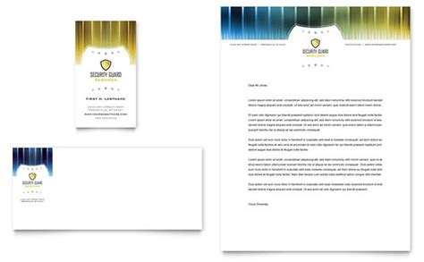 security business card templates free security guard business card letterhead template design