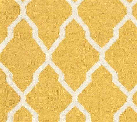 Quatrefoil Area Rug Swing Quatrefoil Trellis Wool Area Rug In Yellow Gold White 3 X 5