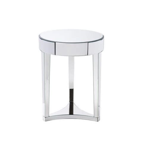 small mirrored accent table small round mirrored accent table round ideas
