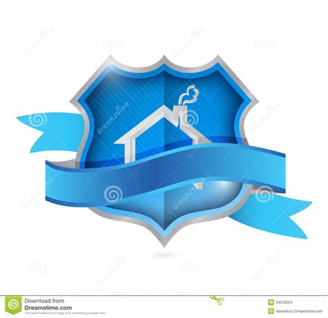 home shield of protection security concept stock images