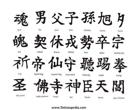 tattoo lettering kanji 5