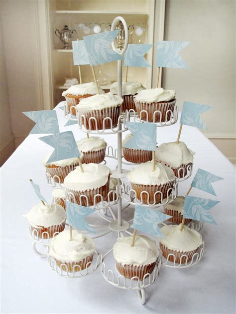easy cupcake decorating for bridal shower photo page hgtv