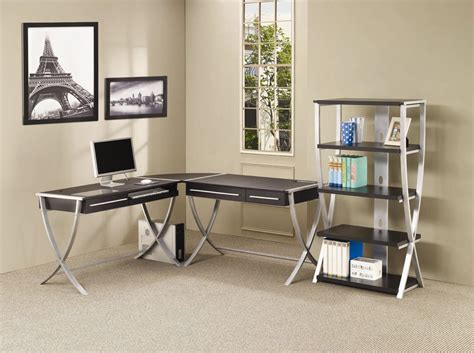 Home Office With Two Desks Home Office 2 Drawer Desk Office Desks