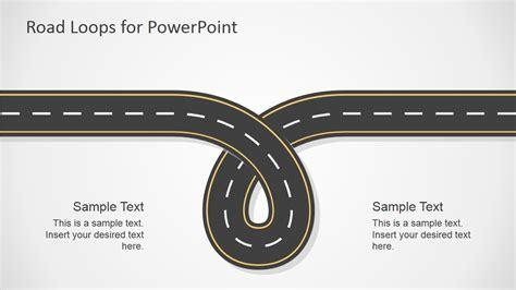 road template road loops powerpoint template slidemodel