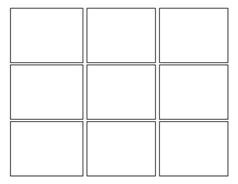 3x3 Printable Card Template by 3rd Grade Second Batch Of Comic Templates