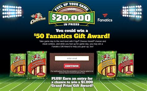 Frigo Cheese Sweepstakes - the frigo 174 cheese heads 174 fuel up your game sweepstakes mumblebee inc