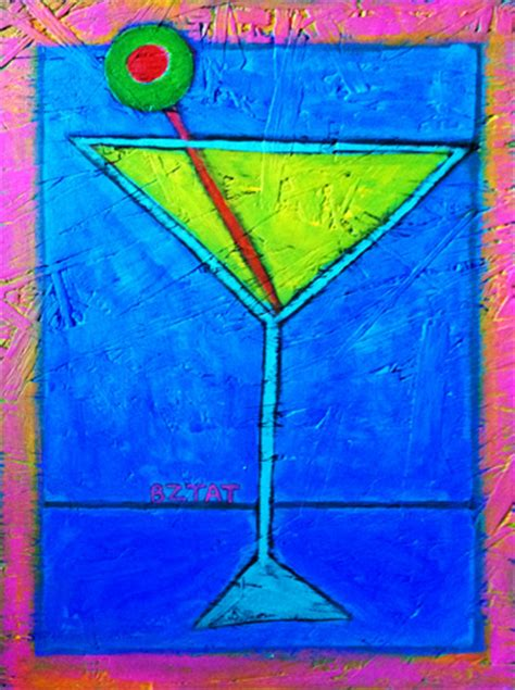 martini glass acrylic painting for sale bztat studios pet portrait paintings and